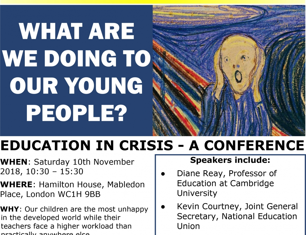 Reclaiming Education Conference : What are we doing to our young people?